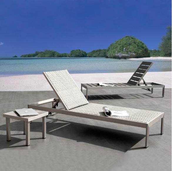 Bblythe Sgs Audu Utilizado Al Aire Libre Poli Madera Playa Chaise ...