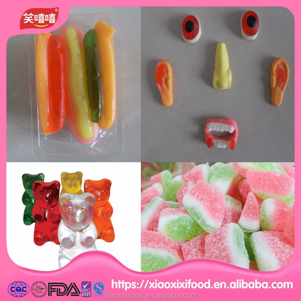 halal candy making factory hotdog shaped candy custom candy
