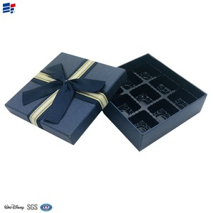 decorative luxury chocolate box ribbon with paper divider