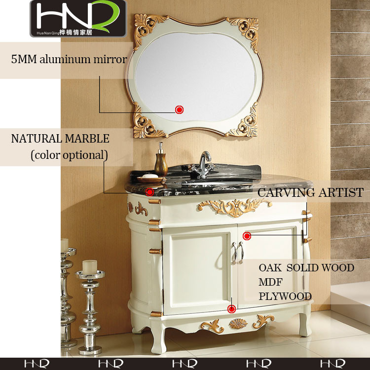 2017 used bathroom vanity cabinets with washing basin for