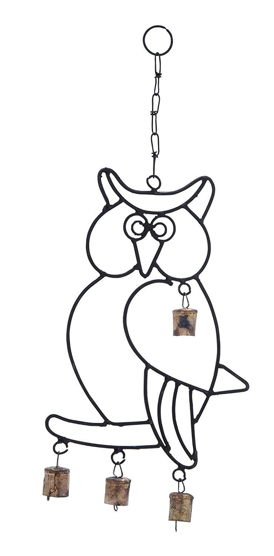 Harvey & Haley Wall Hanger Metal Owl Wind Chime