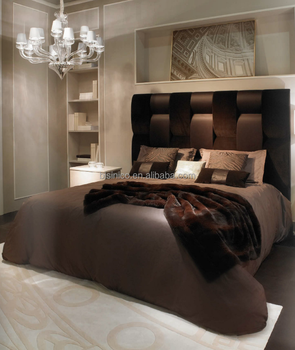 Latest Home Bedroom Design King Size Bed With Velvet Fabric