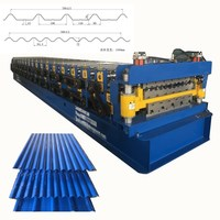 Double layer trapezoidal roof tile building material roll forming machine