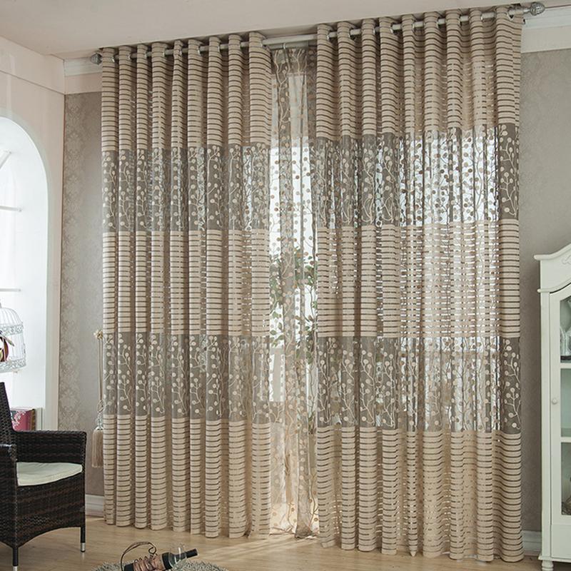 Haute qualité bande moderne rideaux de luxe pour salon