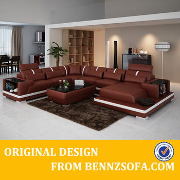China 100 Top Grain Leather Sofa Set