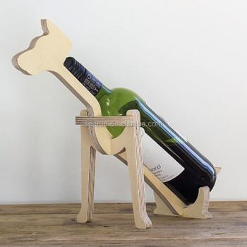 Wooden Wine Holder Bottle Rack,Wine Bottle Animal Display Stand,Single  Bottle Wood Dog Holder   Buy Single Bottle Wood Dog Holder,Wine  Rack,Wholesale ...