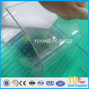 polycarbonate transparent corrugated sheet/High Quality ISO 10-year warranty 100%Bayer Marolon slid polycarbonate window