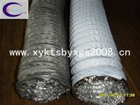 WHITE SINGLE LAYER COMBI PVC FLEXIBLE DUCT FOR HVAC SYSTEM OEM