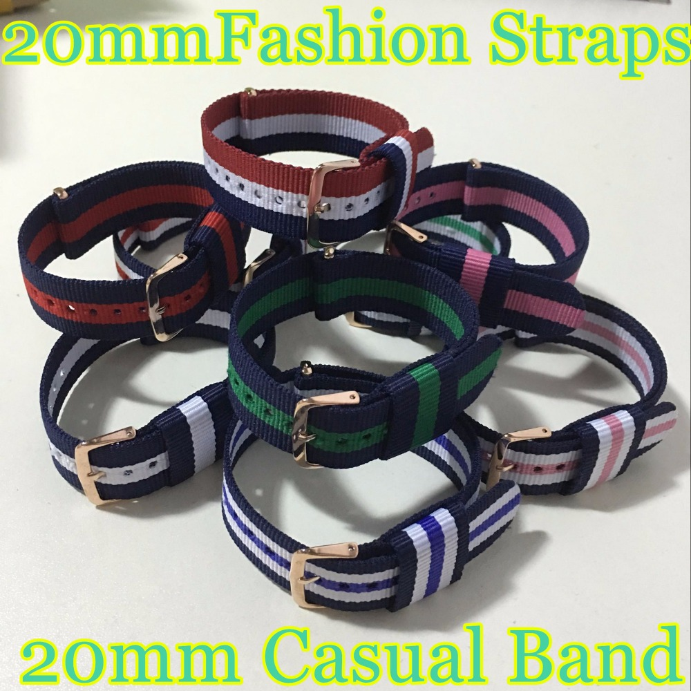 18 Colors Fashion Interchangeable Nylon Leather Straps for Women Men Watches Low price High Quality as a gift