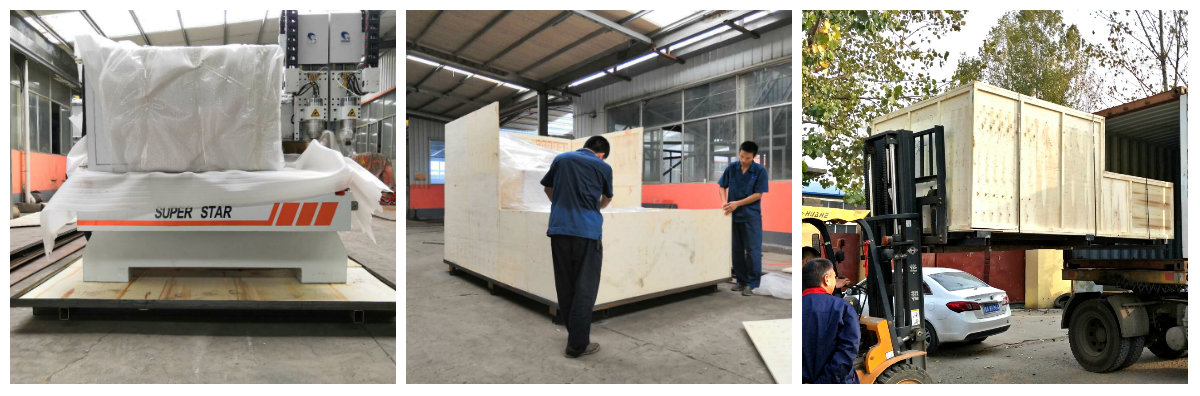 large size working table 1325 1530 2030  model ATC CNC Router with Italy HSD ATC