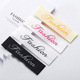 Custom brand cotton silk woven labels for clothing