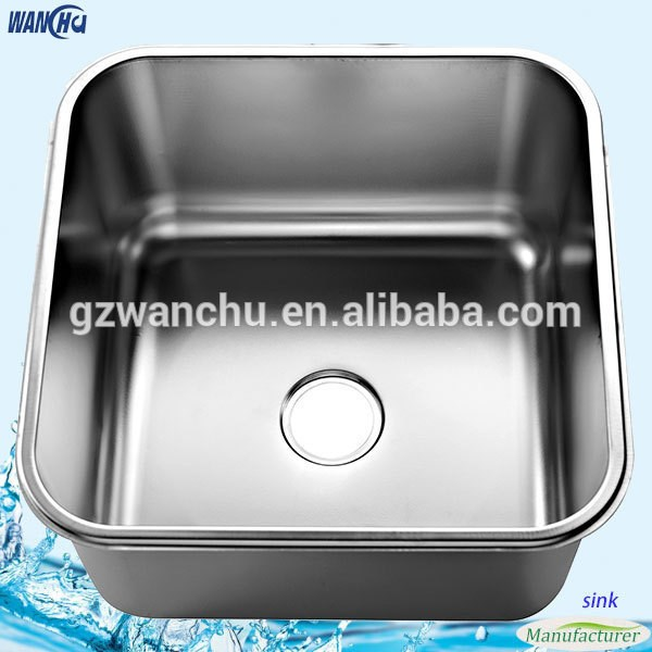 Deep Stainless Steel Kitchen Sink Metal Single Bowl Wash Basin/Water Tank