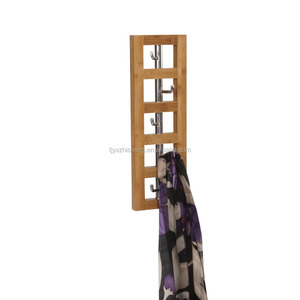 Vertical 5-Hook Wall Mounted Clothes Hat Rack