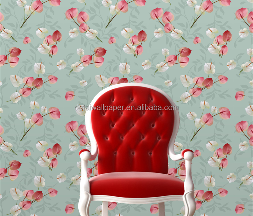 Best Price 3d Red Flower Wallpaper For Simple Scenery Wallpaper
