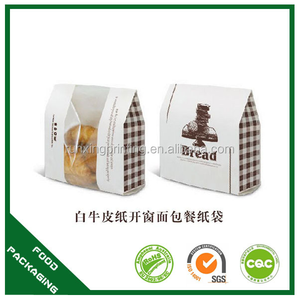 promotion kraft paper bag materials with clear window