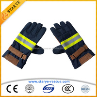 Permanent Flame Retardant Aramid Material Fire Fighter Gloves