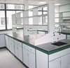 2017 new biological science laboratory steel-wood casework island bench dental laboratory furniture