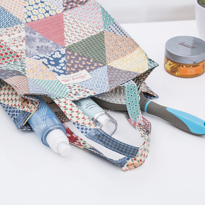 2019 shopping bag Girl Shopping Tote Floral Eco Bag Cotton Grocery Pouch  Handbags Item Organizer Big Space Printing Dropshipping