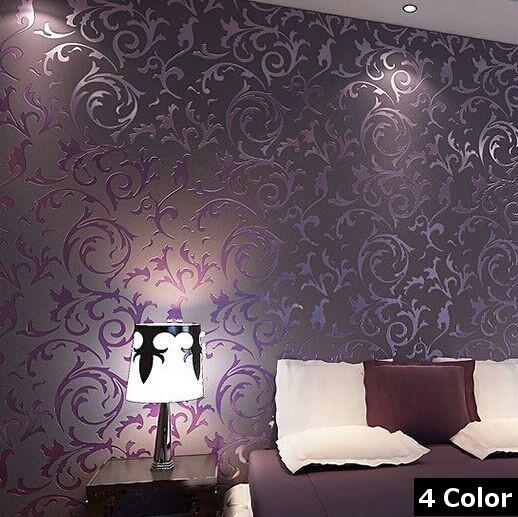 lila tapete schlafzimmer. Black Bedroom Furniture Sets. Home Design Ideas