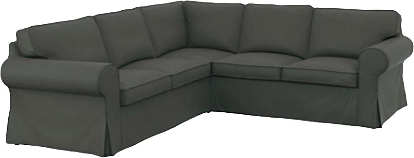 Buy The Dark Gray Cotton Ikea Ektorp 2 2 Sofa Cover Replacement Is