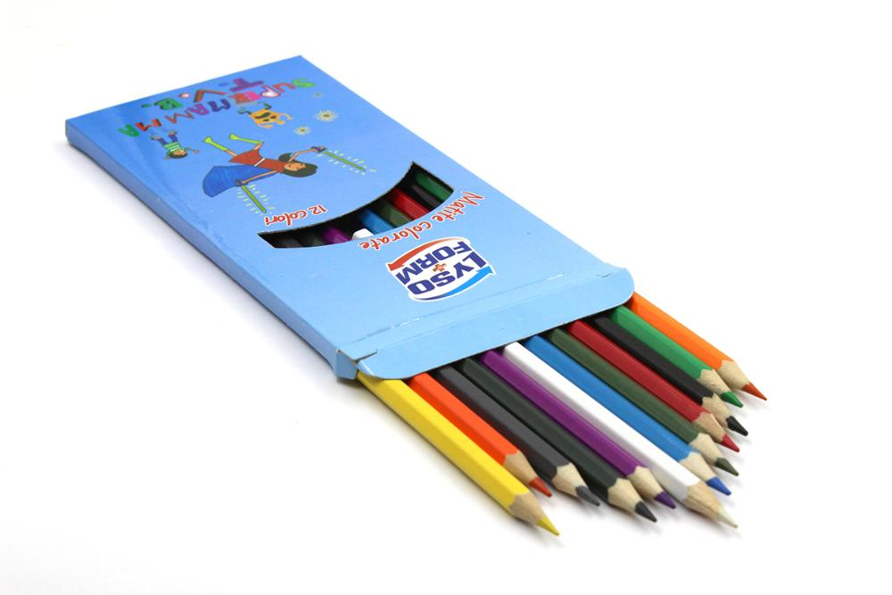 OEM manufactory supply eco-friendly kids mini color pencil set with custom logo for Christmas promotion
