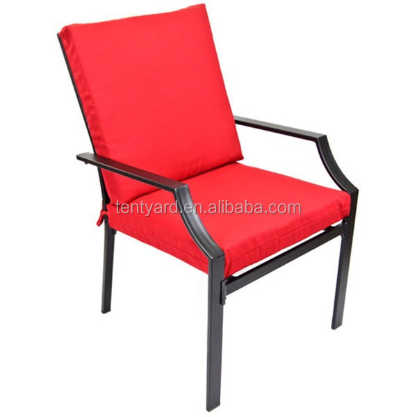 Red Folding Low Back Chair Cushion