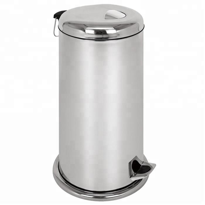 New arrival latest design stainless steel waste bin 30L garbage can trash can