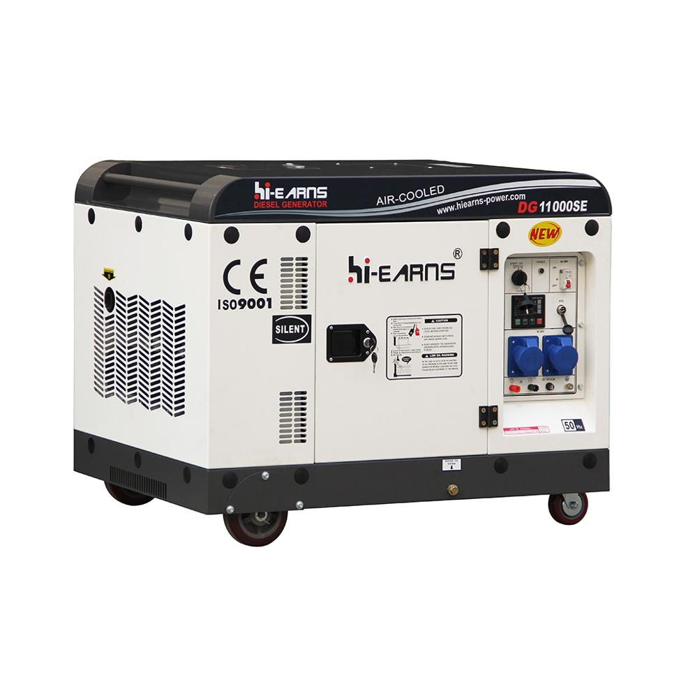 DG11000SE3 8KW 10KVA Soundproof 198FA diesel generator price