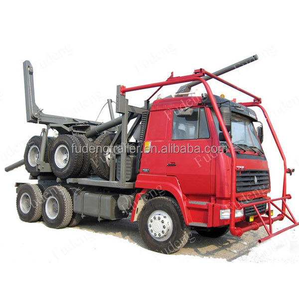 China supplier multi axles wood timber trailer transport logging truck