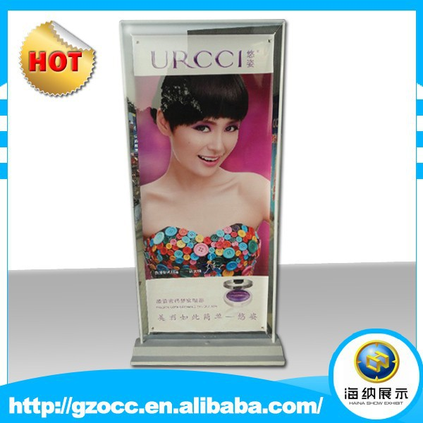 advertising stand display for hanging photograph