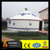 2016 hot sale popular waterproof mongolian yurt used canvas tents for sale