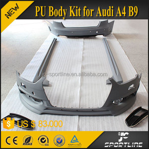 JC Sportline PU Unpainted Auto Styling Kits Car Body Kit for Audi A4 B9 2013