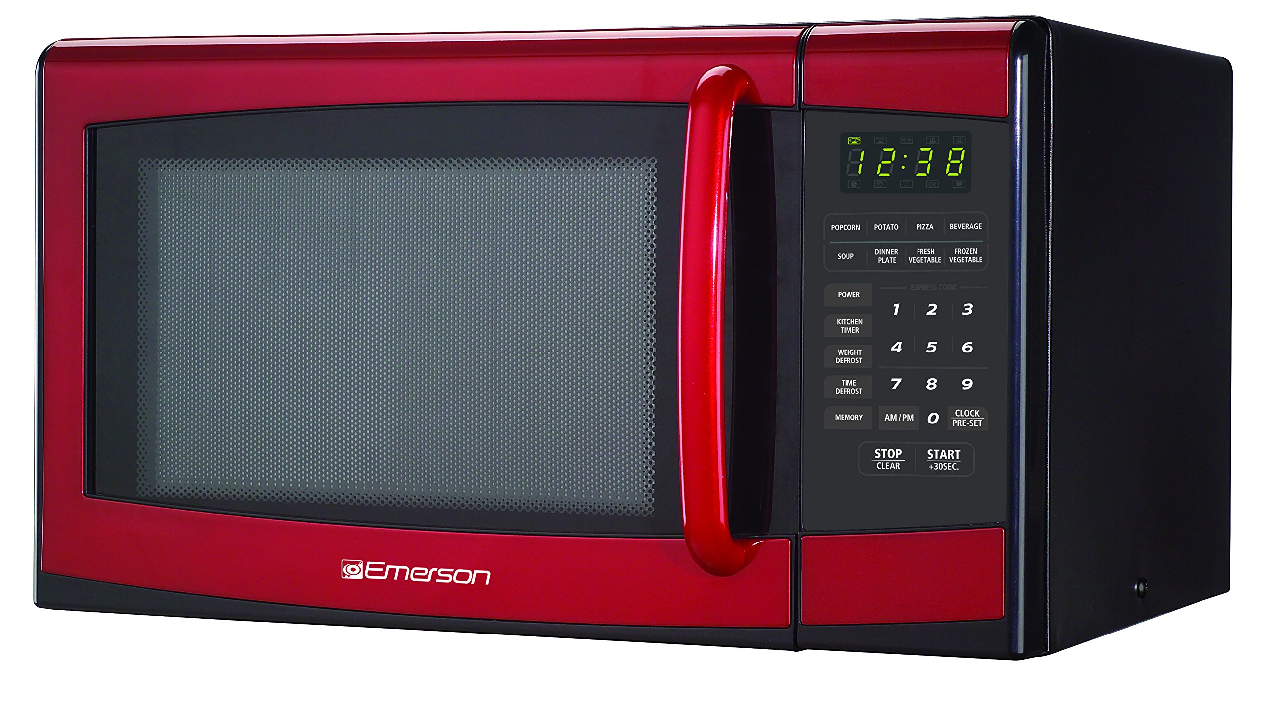 Get Quotations · Emerson MW9998RD 0.9 Cu, 900 Watt, Touch-Control Microwave  Oven, Red