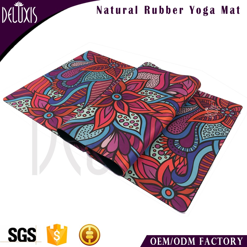 The Combo Yoga Mat 1 5mm Luxurious Non Slip Foldable: Eco-friendly Anti Slip Suede Surface Custom Printed