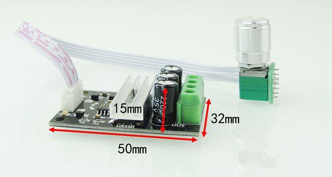 PWM dc motor speed Controller 6v12v24v28v 3a speed On Off function 1203BKW