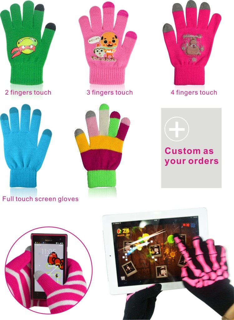 Fashion Winter Microfiber Touch Screen Gloves For Smart Phone ...