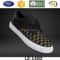 Famous brand fashion pattern lace up canvas upper shoe men casual sport footwear made in china