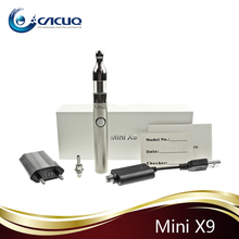 2013 most popular hot electronic cigarette mini x9 kit with evod battery mini protank