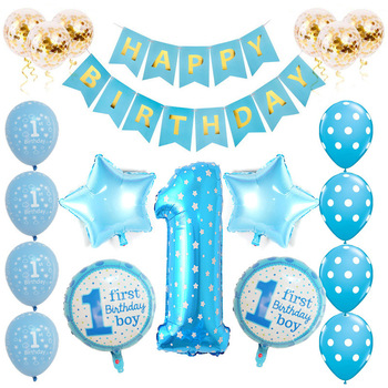 Party Ideals 1st Birthday Balloon Party Baby Shower Ballon Decorations For Girl And Boy