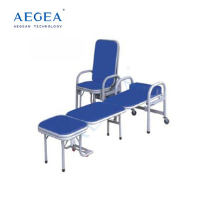 AG-AC002 approved accompanying medical sleeping metal foam folding chair bed