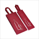 Custom design logo screen printing reusable red black single nonwoven wine bottle bag