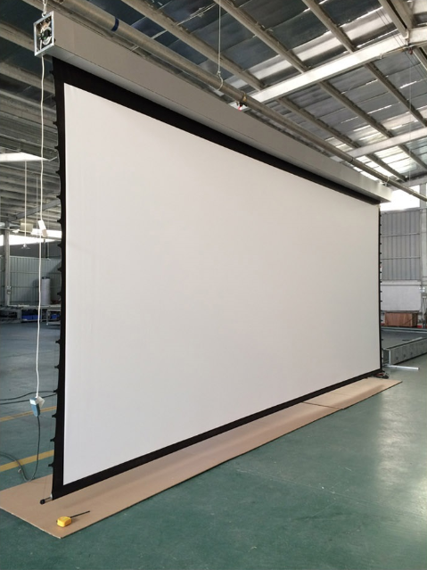Wholesale tab tensioned roll up matte white electric for Tab tensioned motorized projection screen