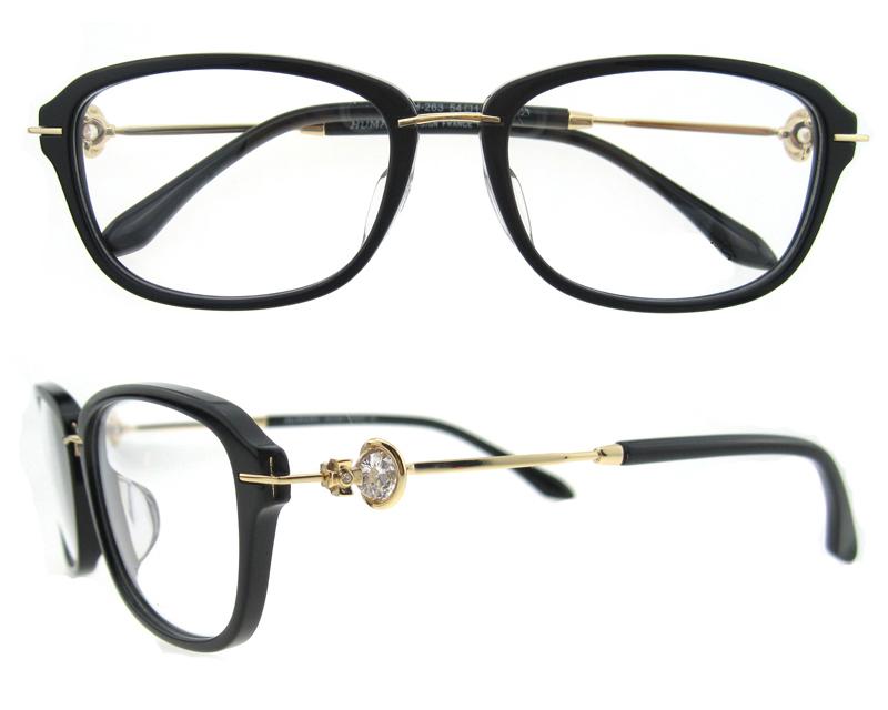Nueva venta caliente gafas marco óptico púrpura marcos con diamantes ...