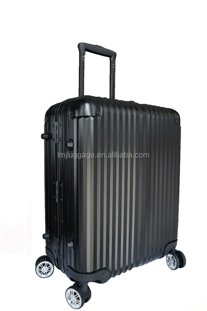 New fashion wholesale price aluminum trolley luggage for traveling with high quality