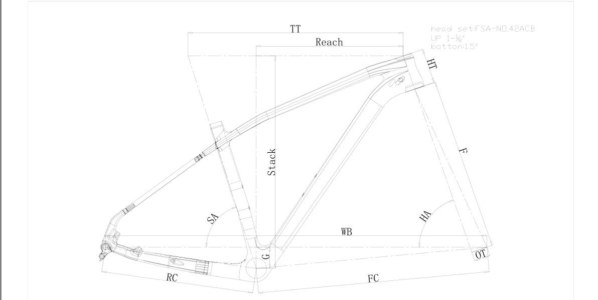 Hongfu mtb  carbon frame 29er hardtail bike frame bb92 named FM199-B