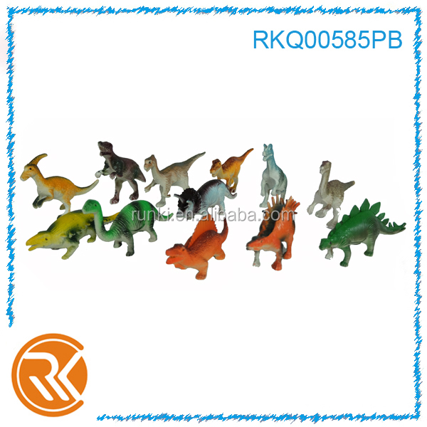 Hot selling vivid mini plastic toy animal dinosaur toys