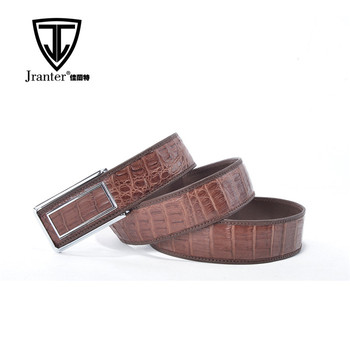 Adjustable Real Alligator Leather Belt With Stainless Steel Belt Buckle for Men