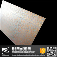 Low Price For Decorated Copper Coating Ancient Egyptian Pattern Etched Stainless Steel Plates