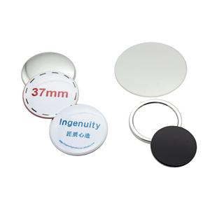 China wholesale 37mm metal material high quality round pin button badge