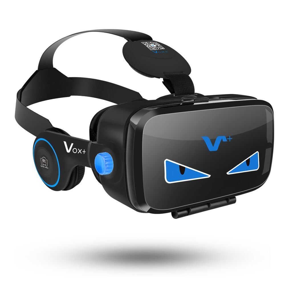 VR Goggles With Headphones | 3D Virtual Reality Goggles | VR Headset iPhone 7 Plus, 6, 5 | VR Headset for Samsung Phones | VOX+ FE 3D VR Goggles Are A Perfect Accessory For All iOS, And Android Phones